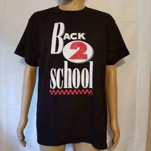 Vintage single stitch 80s 90s Back 2 School shirt